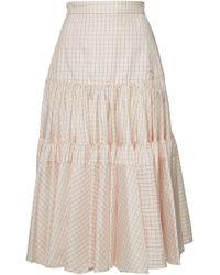 c3a189d6 CALVIN KLEIN 205W39NYC - Printed Silk Midi Skirt - Lyst