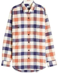 Closed - Zadie Checked Cotton Shirt - Lyst