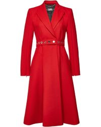 Karl Lagerfeld - Belted Double-breasted Coat - Lyst