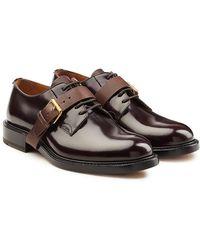 Valentino - Schnürschuhe aus Lackleder mit Schnallendetail - Lyst
