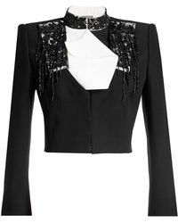 Alexander McQueen - Embellished Cropped Jacket - Lyst