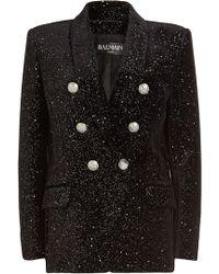 Balmain - Milky Way Velvet Blazer With Embossed Buttons - Lyst