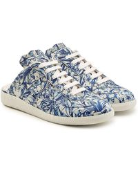 Maison Margiela - Printed Leather Trainers - Lyst