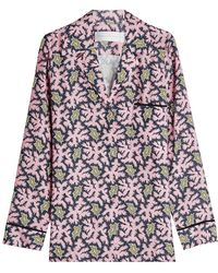 Victoria, Victoria Beckham - Printed Pyjama Pant Trousers - Lyst