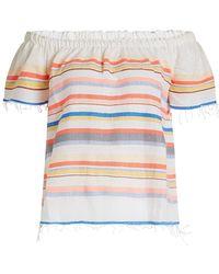 lemlem - Yodit Printed Cotton Off-shoulder Top - Lyst