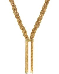 Aurelie Bidermann - Miki 18kt Yellow Gold-plated Necklace - Lyst