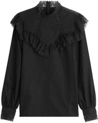 Vilshenko - Cotton Blouse With Ruffles - Lyst