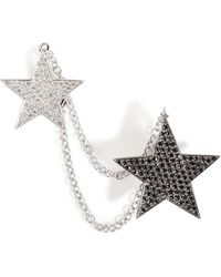 Nikos Koulis - 18kt White Gold And Diamond Double Star Cuff Earring - Lyst