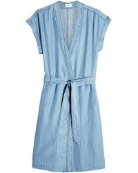 Closed - Chambray Dress With Belt Tie - Lyst