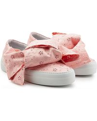 Joshua Sanders - Platform Slip On Sneakers With Embroidered Fabric - Lyst