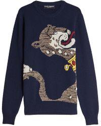 Dolce & Gabbana - Intarsia Panther Knit Jumper - Lyst