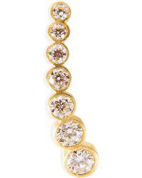 Sophie Bille Brahe - Gold/white Diamond Petite Croissant De Lune Earring - Lyst