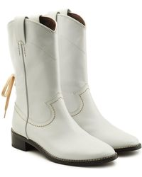 See By Chloé - Devon Leather Ankle Boots - Lyst