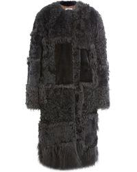 Nina Ricci - Shearling Coat With Mink Fur - Lyst
