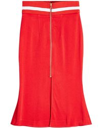 Maggie Marilyn - Crepe Skirt With Fluted Hem - Lyst