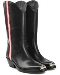 CALVIN KLEIN 205W39NYC - Western Ella Leather Knee Boots - Lyst