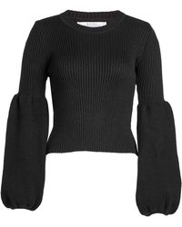 Ksenia Schnaider - Wool-blend Pullover With Statement Sleeves - Lyst