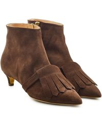 Rupert Sanderson - Suede Ankle Boots - Lyst