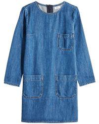 Closed - Neil Patch Pocket Denim Dress - Lyst