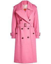 Burberry - Regina Wool Trench Coat - Lyst