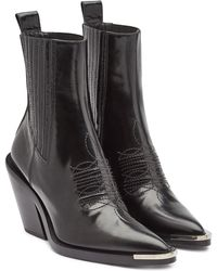 Paco Rabanne - Leather Ankle Boots - Lyst