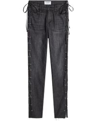 FRAME - Le High Skinny Jeans With Lace-up Sides - Lyst