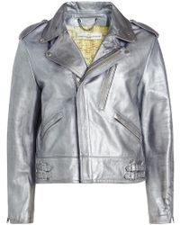 Golden Goose Deluxe Brand - Metallic Leather Biker Jacket - Lyst