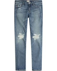 Mother - The Looker Distressed Skinny Jeans - Lyst