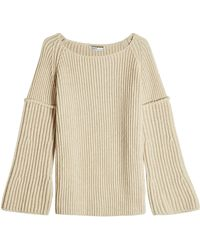 Agnona - Ribbed Pullover With Wool - Lyst