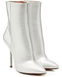 Vetements - Metallic Leather Ankle Boots - Lyst