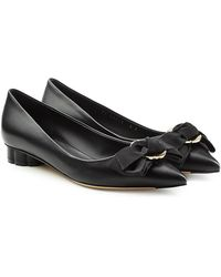 Ferragamo - Talla Leather Court Shoes - Lyst