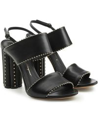 Ferragamo | Capri Embellished Leather Sandals | Lyst