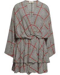 Zadig & Voltaire - Printed Silk Mini Dress - Lyst