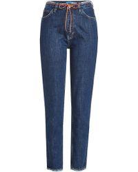 M.i.h Jeans - Jean slim taille haute avec ceinture lacet - Lyst