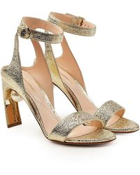 Nicholas Kirkwood | Lola Metallic Leather Pearl Sandals | Lyst
