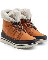 Sorel - Cozy Carnival Suede And Rubber Short Boots - Lyst