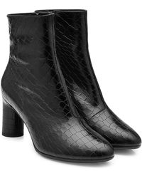 Robert Clergerie - Embossed Leather Ankle Boots - Lyst