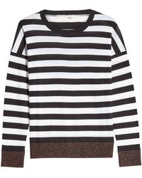 Rag & Bone - June Striped Merino Wool And Metallic Thread Pullover - Lyst