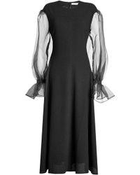Rejina Pyo | Dress With Chiffon Sleeves | Lyst
