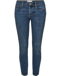 Current/Elliott - The Caballo Stiletto Skinny Jeans With Studs - Lyst