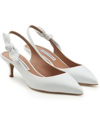 Tabitha Simmons - Rise Leather Kitten Heel Court Shoes - Lyst