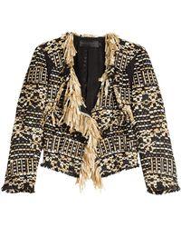 Donna Karan - Tweed Jacket - Lyst