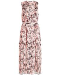 Boutique Moschino - Printed Silk Dress - Lyst