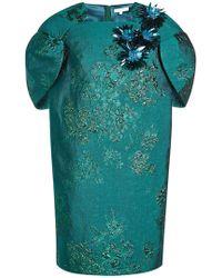 Delpozo - Cap Sleeve Jacquard Mini Dress - Lyst