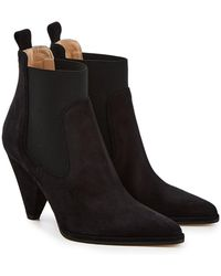 Sergio Rossi - Carla Suede Booties - Lyst