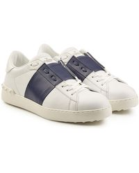 Valentino - Open Leather Sneakers - Lyst