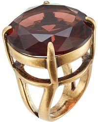 Marc Jacobs - Oversized Stone Embellished Ring - Lyst