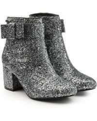 Karl Lagerfeld | Glitter Ankle Boots | Lyst