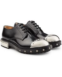 Alexander McQueen - Embellished Leather Shoes With Toecap - Lyst