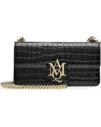 Alexander McQueen - Insignia Embellished Patent Leather Shoulder Bag - Lyst